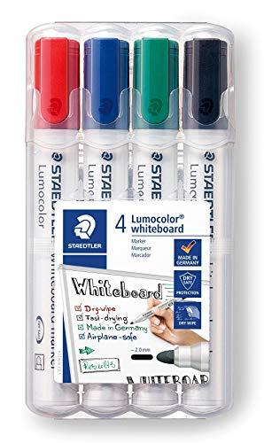 Lumocolor Whiteboard Marker Bullet Tip Set of 4