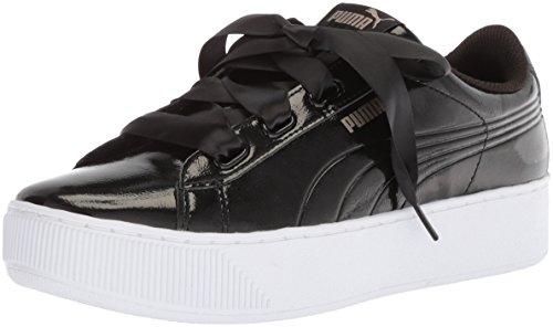 Puma WoMen Vikky Platform Ribbon P Sneaker Puma Black-puma Black