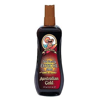 Australiano de bronceado oscuro Oro exótico aceite en spray 237ml