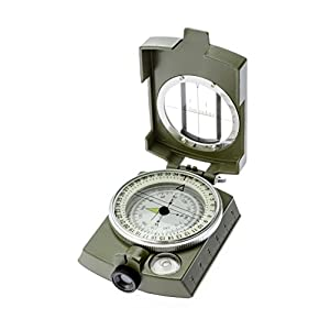 SE CC4580 Military Lensatic & Prismatic Sighting Survival Emergency Compass with Pouch