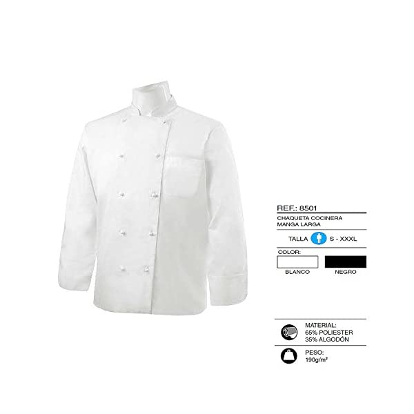 MISEMIYA - Chaquetas Chef Cocinero Manga Larga 1