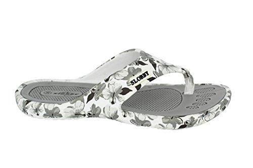 Schuhe 580047 Damen Zehentrenner Grau Pantolette Clogs Sommer Freizeit Eva Bade Badelatschen Buyazzo BYxvZqwOw
