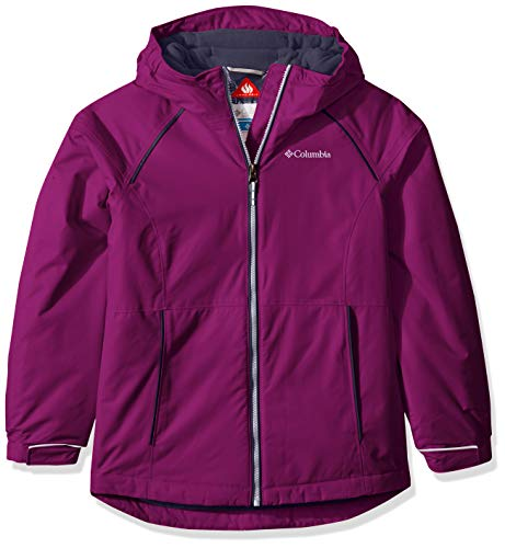 Columbia Little Girl's Alpine Action Ii Jacket, Small, Bright Plum