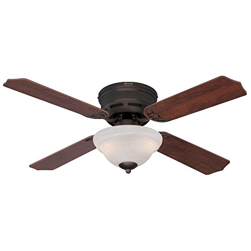 Westinghouse 7213000 Hadley 42-Inch Indoor Ceiling Fan, Light Kit with White Alabaster Bowl, Oil Rubbed Bronze by Westinghouse