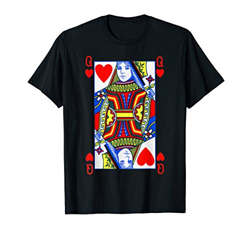 Queen of Hearts Shirt| Funny Halloween Costume Tee| Poker   T-Shirt]()