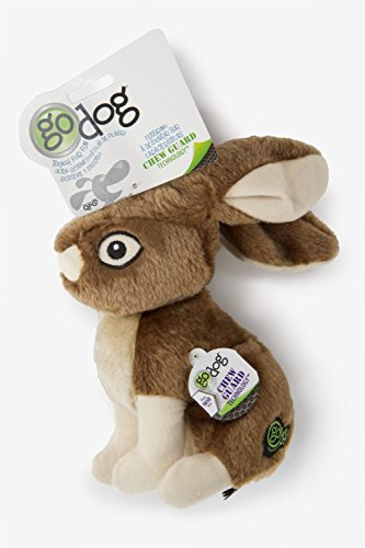 (GoDog Wildlife Rabbit Large Toy with Chew)