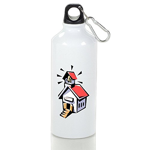 unisex-white-aluminum-school-house-outdoor-sports-bottle16oz