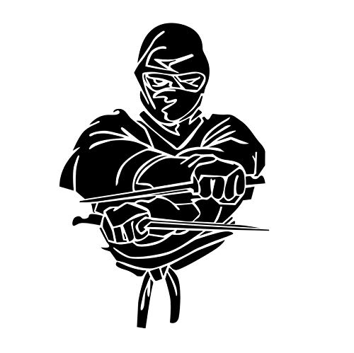 Fighter Ninja Wall Decal Vinyl Art Design Self Adhesive Wall ...