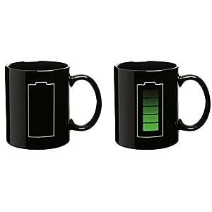 Econoled Tech Battery Color Changing Thermometer Heat Kruzhkus Mug Sensitive Porcelain Tea Coffee Cup