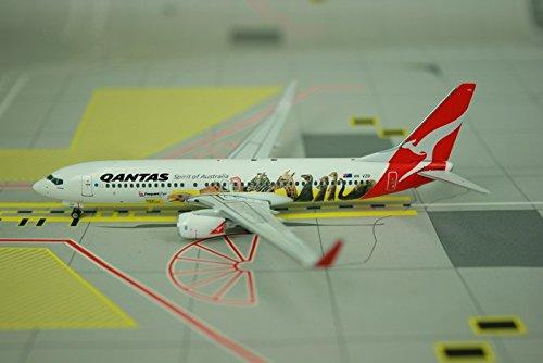 Phoenix Qantas 737-800 1/400 Optus REG#VH-VZD (Vh Qantas)