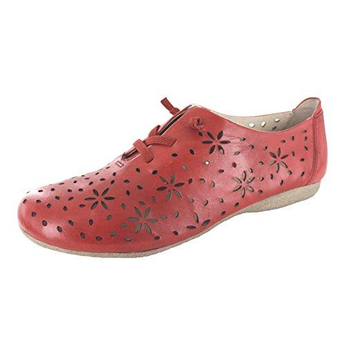 de Carmin para Derby Seibel Zapatos Josef 27 Fiona Mujer Cordones zCqC6I