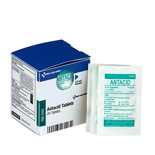 SmartCompliance Refill Antacid, 2 Tablets Per Packet, 10 Packets Per Box | Emergency Kit Trauma Kits First Aid Cabinet Refills ()