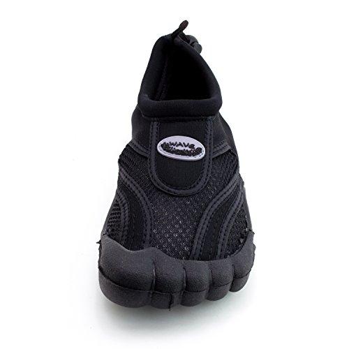 Femmes Plage Extérieure Piscine Creek Aqua Chaussures Deau (adultes) Noir / Noir