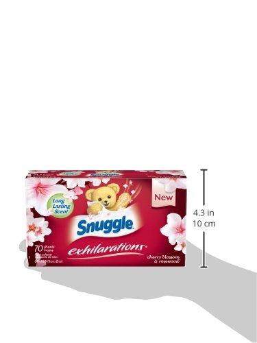 Snuggle Exhilarations Fabric Softener Dryer Sheets Cherry
