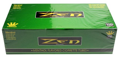 ZEN 100mm Menthol Flavored Cigarette Tubes 250ct - 40 Boxes - Full Case by Zen