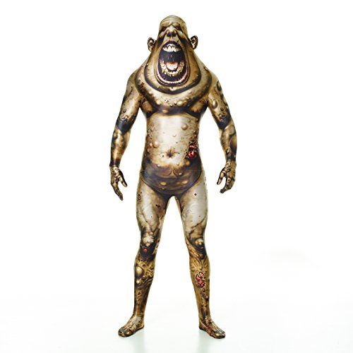 "Adult Boil Monster Morphsuit (Morphsuits Boil Monster Monster Fancy Dress Costume - Size Large - 5""5-5""9 (163cm-175cm))"