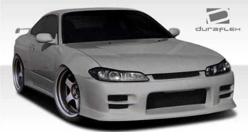 - 1995-1998 Nissan 240SX Duraflex S15 G-PR Conversion Kit - 4 Piece - Includes OEM Hood (100889) Conversion OEM Fenders (101643) G-PR Front Bumper Cover (107826)