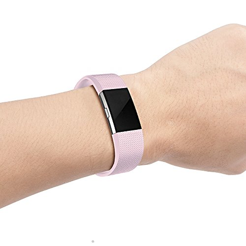 RedTaro Fitbit Charge 2 Replacement Elastomer Bands Small Large