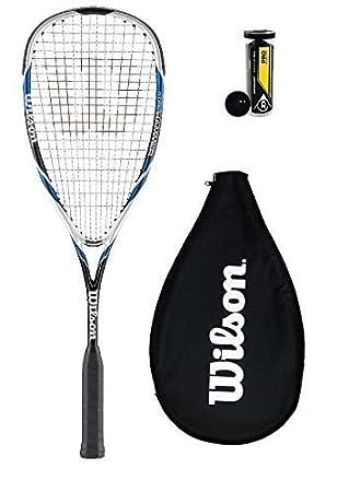Wilson Hyper Martillo 120 PH Raqueta De Squash + 3 Pelotas De Squash Dunlop - Azul + 3 Pro Esferas: Amazon.es: Deportes y aire libre