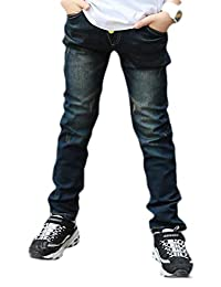 pipigo Boys Childrens Denim Cowboy Regular Fit Pants Jeans
