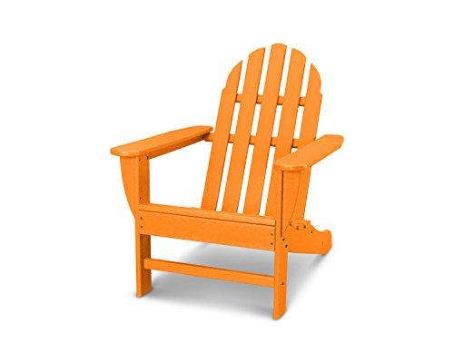 POLYWOOD AD4030TA Classic Outdoor Adirondack Chair, Tangerine (Plastic Chairs Backyard)