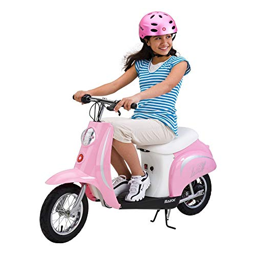 Razor Pocket Mod Miniature Euro 24V Electric Retro Scooter, Pink | 15130610 ()
