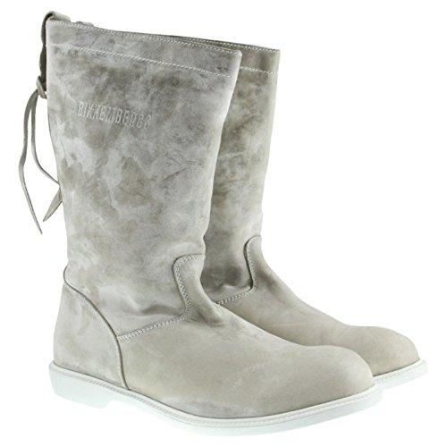 BIKKEMBERGS Damen Leder Stiefel Mariner White BKE103035 Größe 36