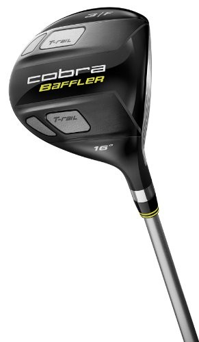 Cobra Baffler T-Rail Fairway Wood (Men's Right-Handed, 13 Degree Strong 3 Wood, Graphite Design Tour AD Graphite Shaft, Stiff Flex)