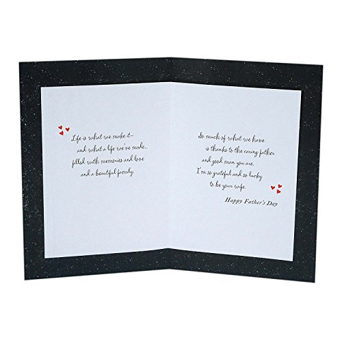 Hallmark Father's Day Greeting Card for Husband (Grateful and Lucky to be Your Wife) Photo #3