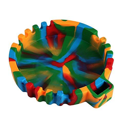 "IUNIQEE Silicone Ashtray, 6.5inch, Colorful-6.5"""
