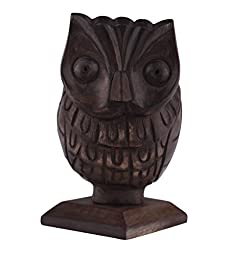 Mothers Day Gift Owl Shaped Spectacle Eyeglass Holder Display Stand with Pen Pencil Stand Multipurpose Desk Accessory