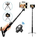 Selfie Stick, UBeesize Extendable Monopod Tripod Stand Wireless Shutter Remote, Compatible iPhone, Samsung, Other Android Phones, Digital Cameras GoPro