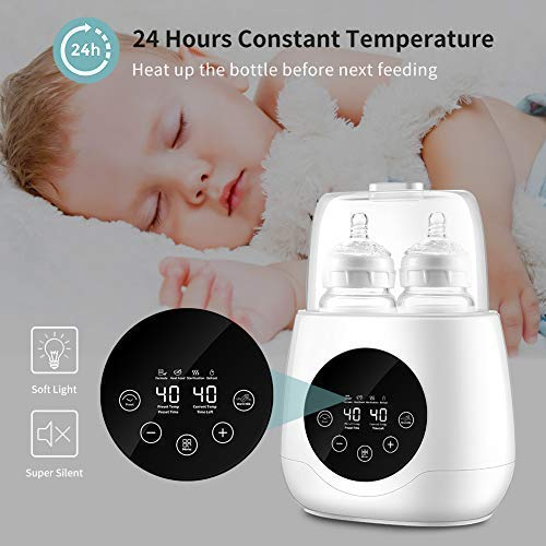 Baby Bottle Warmer,Bottle Steam Sterilizer 6-in-1 Baby Evenly Milk or Panel Control of Fast Warming Accurate Temperature