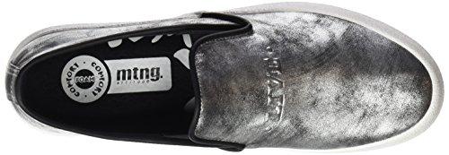 MTNG Women's Rolling Low-Top Sneakers Black (Glisten Black Plata) LeJXTiXw