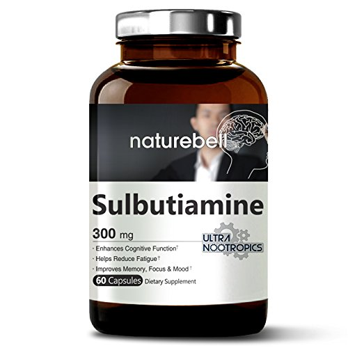 Maximum Strength Sulbutiamine 300 mg – 60 Capsules, Ultra Nootropics Supplements, Cognitive Enhancer, Powerfully Reduces Fatigue, Enhances Memory Learning & Concentration – Non-GMO and Made in USA Review