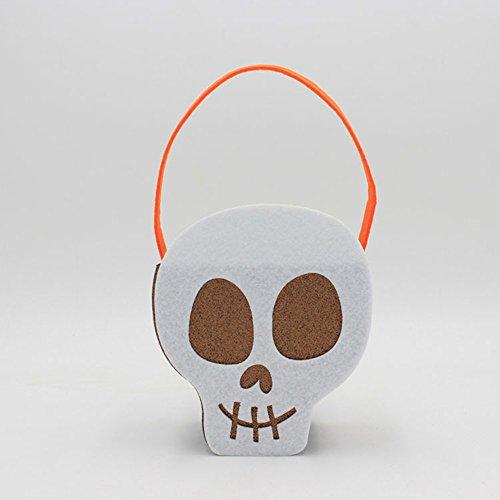 Zehui Decorations Props Halloween Costume Felt Creative Non-Woven Ghost Pumpkin Skull Tote Bag (Louis Vuitton Halloween Costume)