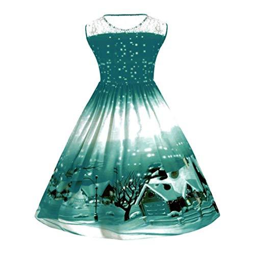 xx dress size up zhrui b large vintage print swing plus green christmas pin womens panel - Vintage Christmas Dress