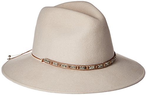 Gottex Women's Moonlight Adjustable Wool Felt Hat with Jewel Trim and Upf 50+ , Mink, One Size