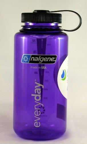 Nalgene Wide Mouth Bottle - 32 oz., Purple w/ Black (32 Oz Nalgene Bottle)