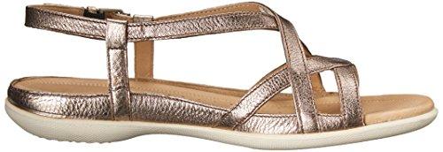 Ecco calzado sandalias de flash de ajuste cruzado de la mujer Warm Grey/Metallic