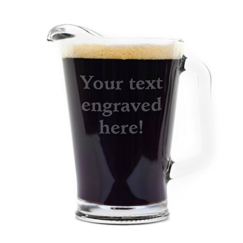 Personalized Pitcher Engraved with Your Custom Text