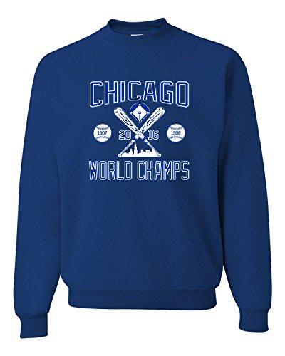 - X-Large Royal Adult Chicago World Champs 2016 Sweatshirt Crewneck