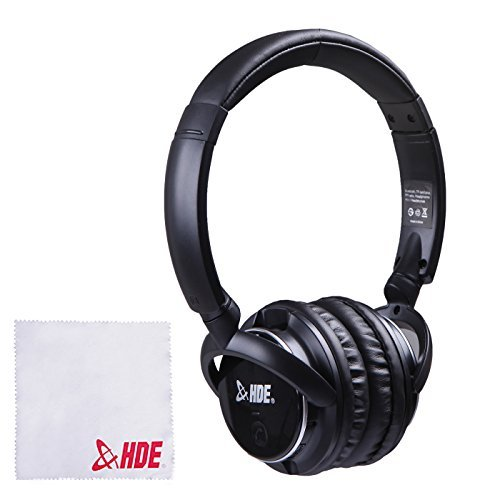 On-Ear Bluetooth Headphones Wireless + Wired Technology Headset Stereo Built-in Mic for Hands Free Calling (Black)