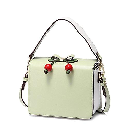 LQQAZY Bolso De Mano Para Mujer De Las Mujeres Del Bolso De Hombro Del Diseñador De Cuero De La Tienda Del Bolso Para Las Mujeres (20 * 6.5 * 16cm) Green