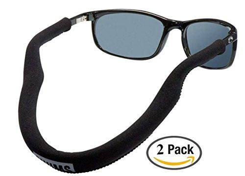 Chums Floating Neo Eyewear Eyewear Retainer, Black (2 Pack)