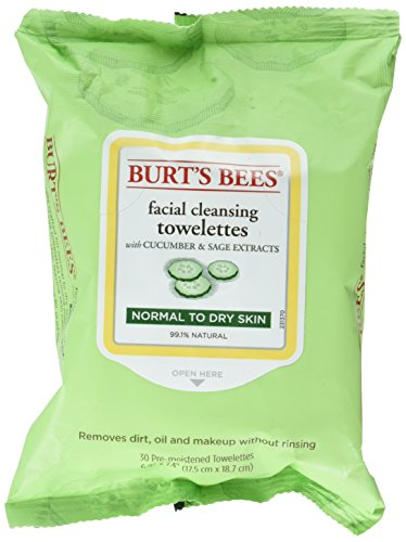 Burts Bees Facial Cleansing Towelettes Cucumber and Sage 30 Towelettes