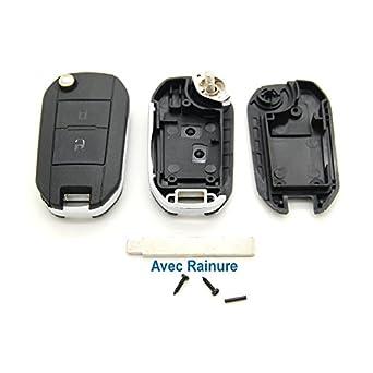 Peugeot - Carcasa con mando a distancia para llave ...