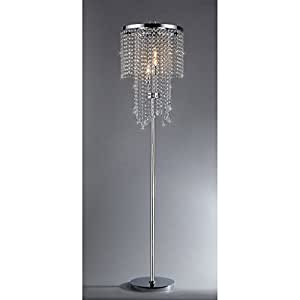 Diana crystal floor lamp chandelier lamps amazon diana crystal floor lamp mozeypictures Image collections
