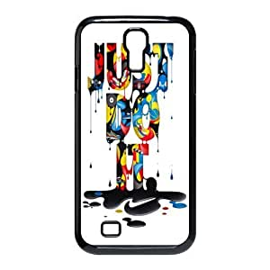 NIKE JUST DO IT Classic Design Print Black Case With Hard Shell Cover for SamSung Galaxy S4 I9500