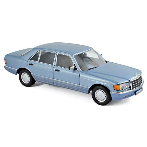 1991 Mercedes Benz 560 SEL Pearl Blue Metallic 1/18 Diecast Model Car by Norev 183464